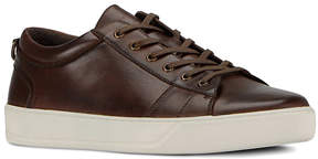 Andrew Marc Dark Brown & White Darwood Leather Sneaker - Men