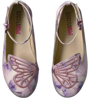 Sophia Webster Bibi Butterfly Feather Print Girl's Shoes