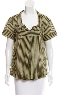 Dries Van Noten Short Sleeve Striped Top