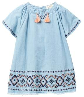 Jessica Simpson Embroidered Chambray Top (Toddler & Little Girls)