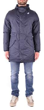 K-Way Men's Blue Polyester Jacket.