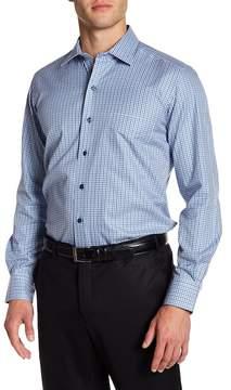 David Donahue Check Print Regular Fit Shirt