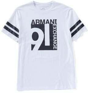 Armani Exchange Jersey Logo Short-Sleeve Tee