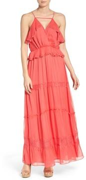 Adelyn Rae Tiered Chiffon Maxi Dress