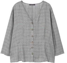 Violeta BY MANGO Prince of Wales blouse