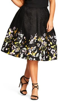 City Chic Plus Size Women's Garden Party Skirt