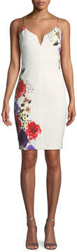 Black Halo Breleigh Floral-Print Sheath Dress