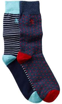 Original Penguin Gabriel & Balboa Crew Socks - Pack of 2
