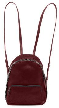 Stella McCartney Falabella Mini Shaggy Deer Faux Leather Backpack