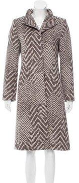 Cinzia Rocca Long Angora & Wool Coat