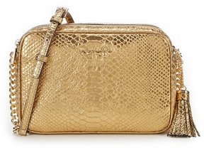 MICHAEL Michael Kors Ginny Metallic Embossed Camera Bag - GOLD - STYLE