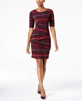 Connected Printed Tiered Sheath Dress