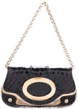 Dolce & Gabbana Snakeskin & Metallic Leather Bag