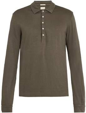 Massimo Alba Long-sleeved linen-jersey polo shirt