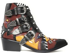 Toga Buckled Multicolored-leather Western Boots