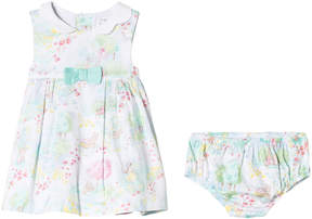 Mayoral Bunny and Woodland Scene Print Dress with Briefs