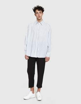 Our Legacy Borrowed Classic Shirt in White Blue Stripe