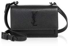 Saint Laurent Sunset Small Leather Satchel - BLACK - STYLE