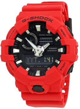 Casio G-Shock Red Resin Men's Watch