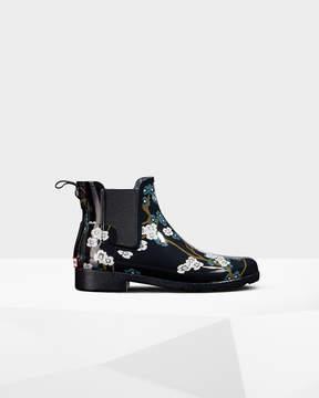 Hunter Women's Refined Blossom Print Chelsea Boots