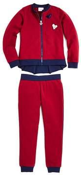 Armani Junior Girls' Zip-Up Jacket & Joggers Set - Little Kid, Big Kid