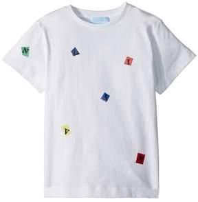 Lanvin Kids Tossed Letters T-Shirt Boy's T Shirt