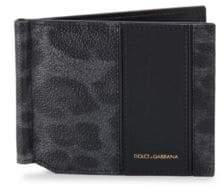 Dolce & Gabbana Leopard-Print Leather Bifold Wallet