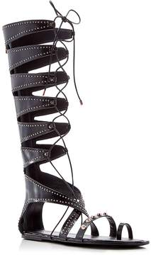 Ivy Kirzhner Sorcerer Stud Gladiator Lace Up Flat Sandals