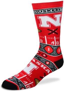 For Bare Feet Adult Nebraska Cornhuskers Super Fan Crew Socks