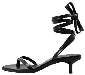 MANGO Leather straps sandals