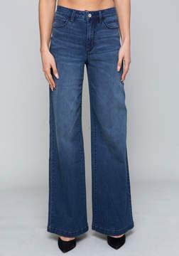 Bebe High Waist Wide Leg Jeans