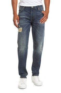 French Connection Men's Slim Fit Distressed Jeans