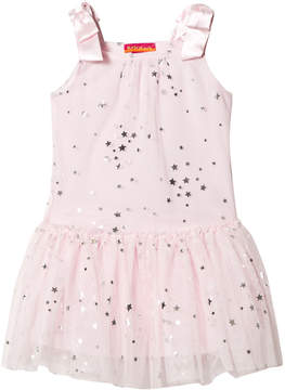 Kate Mack Biscotti Pink with Silver Star Tulle Dress