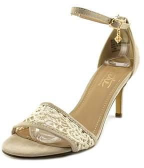 Nanette Lepore Beauty Open Toe Canvas Sandals.
