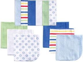 Luvable Friends Blue 12-Pack Washcloth Set