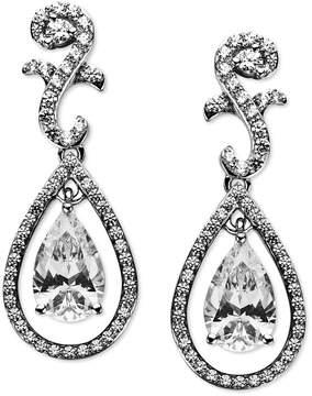 Arabella Sterling Silver Earrings, Swarovski Zirconia Teardrop Earrings (9 ct. t.w.)