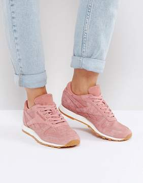 Reebok Classic Leather Faux Exotic Sneakers In Pink