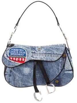 Christian Dior Speedway Denim Saddle Bag