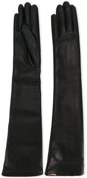 Salvatore Ferragamo long leather gloves
