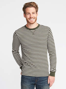 Old Navy Striped Soft-Washed Built-In Flex Thermal Tee for Men