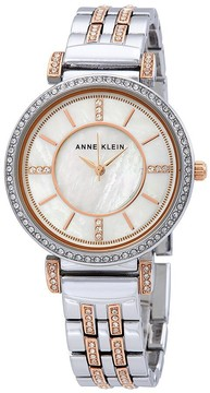Anne Klein Crystal Mother of Pearl Dial Ladies Watch