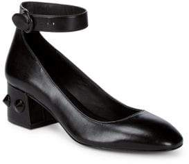 Michael Kors Fifi Leather Ankle-Strap Pumps