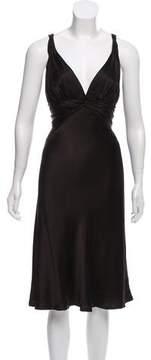 Carmen Marc Valvo Satin Midi Dress