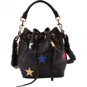 Saint Laurent Emmanuelle leather handbag - BLACK - STYLE