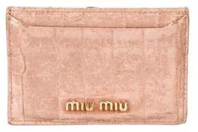 Miu Miu Embossed Leather Logo Cardholder