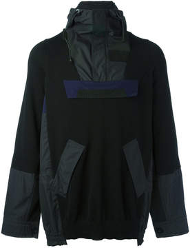 Sacai deconstructed hooded jacket