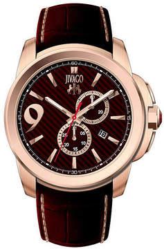 Jivago Gliese Mens Red Leather Strap Watch