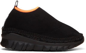 Kenzo Black K-Lastic Slip-On Sneakers