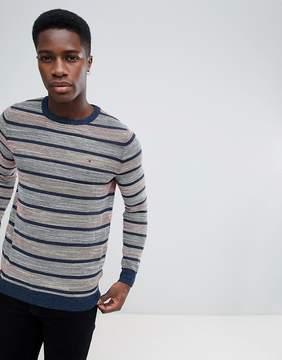Tommy Hilfiger Striped Crew Neck Sweatshirt