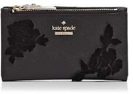 Kate Spade Cameron Street Velvet Roses Leather Wallet